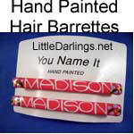 Hand Painted Hair Barrettes
