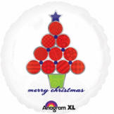 "Festive Christmas Tree  Foil Balloon   - 18""/45cm - 5 PC"